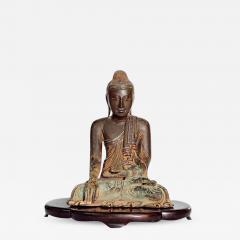 19th Century Mandalay Style Buddha of Bronze with Verdigris - 2133401
