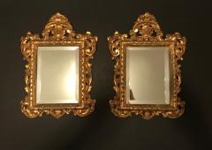 19th Century Pair of Venetian Hand Carved Gilded Mirrors Italy - 754778