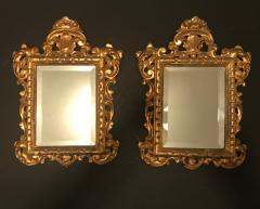 19th Century Pair of Venetian Hand Carved Gilded Mirrors Italy - 754779