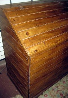 19th Century Primitive Pine Slant Top Wood Box - 890596
