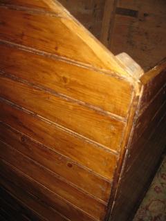 19th Century Primitive Pine Slant Top Wood Box - 890599
