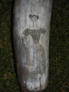 19th Century Scrimshaw Horn Vessel - 685728