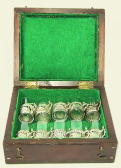19th Century Set of Ten Sterling Silver Shot Glasses by W Comyn - 1695176