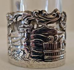 19th Century Set of Ten Sterling Silver Shot Glasses by W Comyn - 1695183