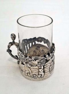 19th Century Set of Ten Sterling Silver Shot Glasses by W Comyn - 1695186