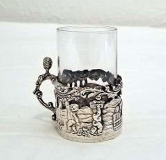 19th Century Set of Ten Sterling Silver Shot Glasses by W Comyn - 1695187