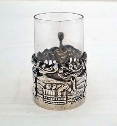 19th Century Set of Ten Sterling Silver Shot Glasses by W Comyn - 1695191