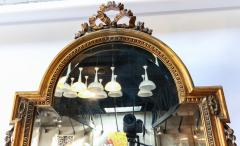 19th Century Tall Louis XVI Carved Giltwood Mirror - 1029433