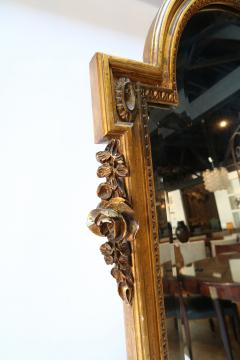 19th Century Tall Louis XVI Carved Giltwood Mirror - 1029434