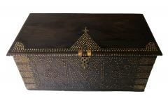 19th Century Teak Brass Studded Zanzibar Chest - 1040848