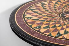 19th Century Vibrant Speciman Marble Garden Table - 1417446