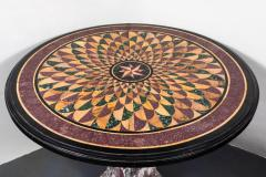 19th Century Vibrant Speciman Marble Garden Table - 1417448