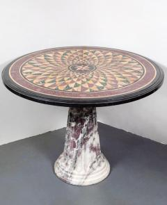 19th Century Vibrant Speciman Marble Garden Table - 1417449