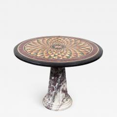 19th Century Vibrant Speciman Marble Garden Table - 1418496