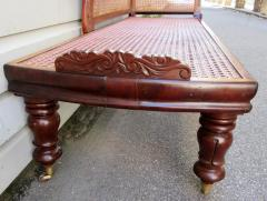19th Century West Indies Bajan Regency Mahogany and Cane Recamier - 306180