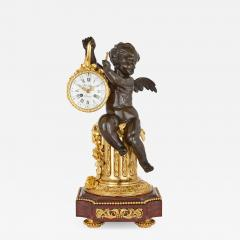 19th Century ormolu and marble mantel clock - 1257142