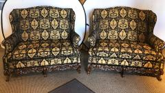 19th Early 20th Century Settees Canapes Rococo Style in Fine Fabric - 1462690