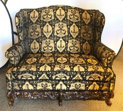 19th Early 20th Century Settees Canapes Rococo Style in Fine Fabric - 1462692