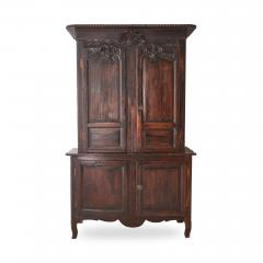 19th c French Provincial Oak Deux Corps Cabinet - 1590293