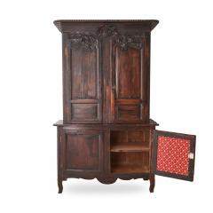 19th c French Provincial Oak Deux Corps Cabinet - 1590294