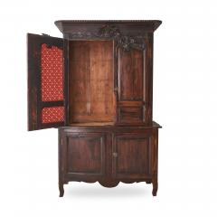 19th c French Provincial Oak Deux Corps Cabinet - 1590295