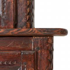 19th c French Provincial Oak Deux Corps Cabinet - 1590319