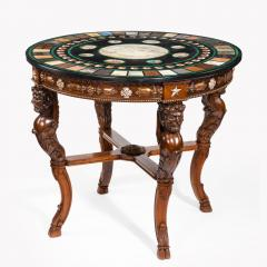 19th century Italian micro mosaic and specimen marble top centre table - 756360