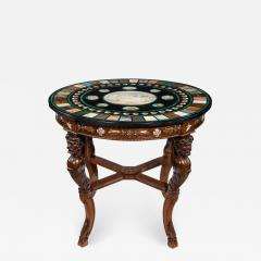 19th century Italian micro mosaic and specimen marble top centre table - 758181