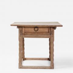 19th century Swedish Oak Side Table - 1637657
