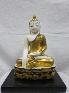 19th to 20th Century Burmese Alabaster Buddha - 360883