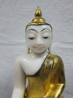 19th to 20th Century Burmese Alabaster Buddha - 360884
