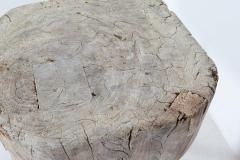 19thC Bleached French Elm Chopping Block - 2136448