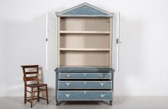 19thC Dutch Painted Housekeepers Cupboard - 2136395