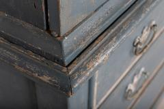 19thC Dutch Painted Housekeepers Cupboard - 2136404