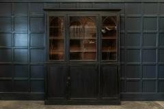 19thC Ebonised Mahogany Arched Glazed Bookcase - 1978637