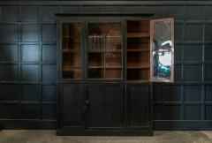 19thC Ebonised Mahogany Arched Glazed Bookcase - 1978638