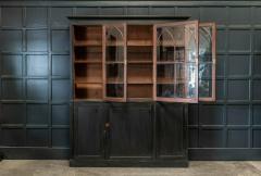 19thC Ebonised Mahogany Arched Glazed Bookcase - 1978641