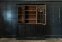 19thC Ebonised Mahogany Arched Glazed Bookcase - 1978642