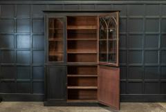 19thC Ebonised Mahogany Arched Glazed Bookcase - 1978643