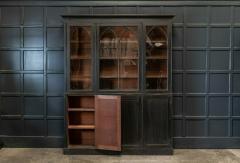 19thC Ebonised Mahogany Arched Glazed Bookcase - 1978644
