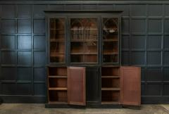 19thC Ebonised Mahogany Arched Glazed Bookcase - 1978645