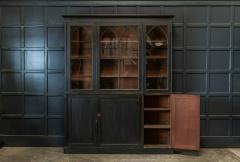 19thC Ebonised Mahogany Arched Glazed Bookcase - 1978646