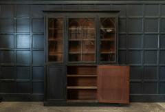 19thC Ebonised Mahogany Arched Glazed Bookcase - 1978647