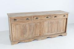 19thC English Large Country House Bleached Pine Dresser Base - 2047805