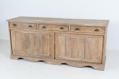 19thC English Large Country House Bleached Pine Dresser Base - 2047806