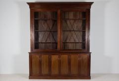 19thC English Large Mahogany Astral Glazed Bookcase - 2057104