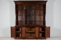 19thC English Large Mahogany Astral Glazed Bookcase - 2057126