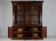 19thC English Large Mahogany Astral Glazed Bookcase - 2057127