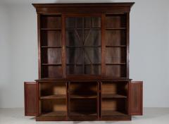 19thC English Large Mahogany Astral Glazed Bookcase - 2057128