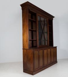 19thC English Large Mahogany Astral Glazed Bookcase - 2057129